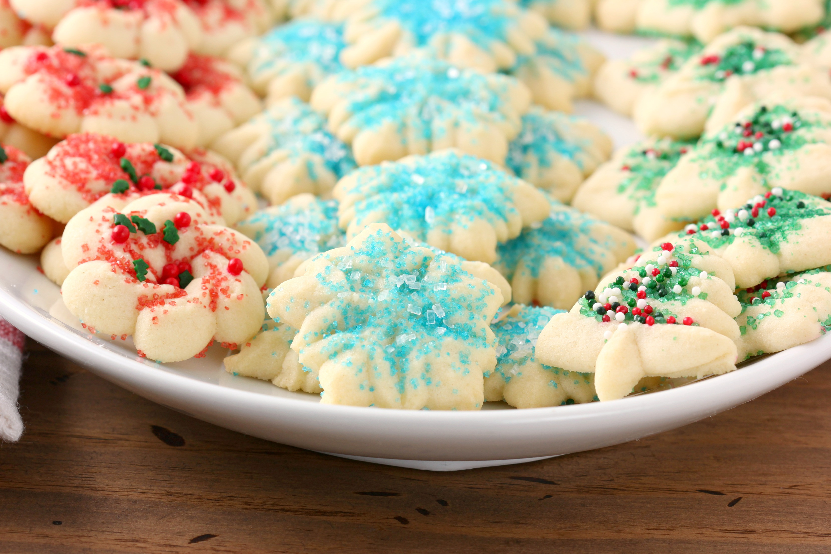 Christmas Spritz Cookies  Classic Spritz Cookies A Kitchen Addiction