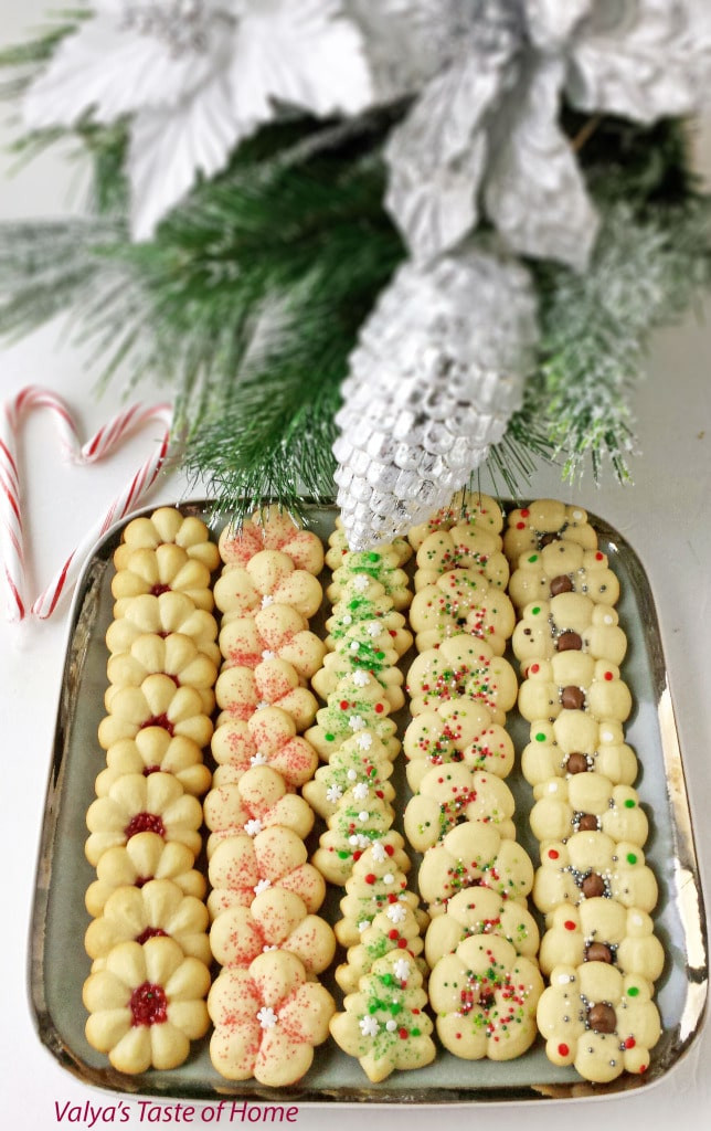 Christmas Spritz Cookies  Christmas Spritz Cookies Valya s Taste of Home