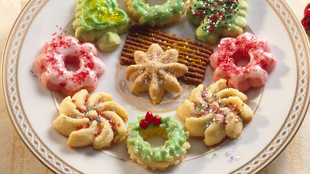 Christmas Spritz Cookies  Classic Spritz Cookies Recipe Pillsbury