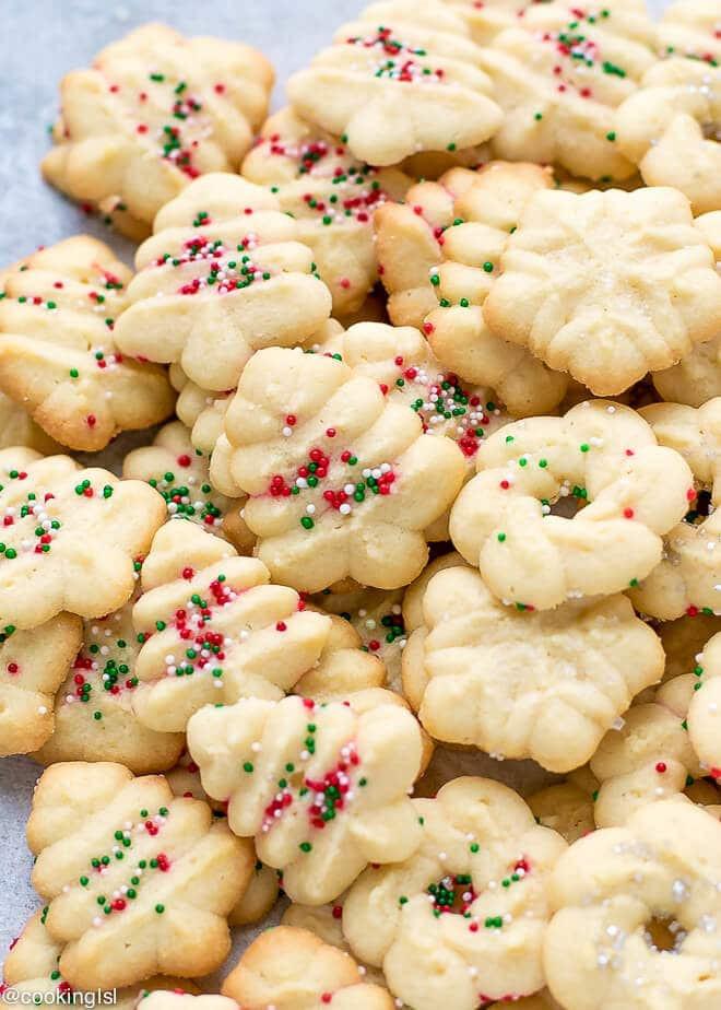 Christmas Spritz Cookies  Easy Cream Cheese Spritz Cookies Recipe Cooking LSL