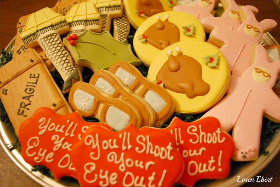 Christmas Story Cookies  A Christmas Story Cookie Platter cake by Loren Ebert