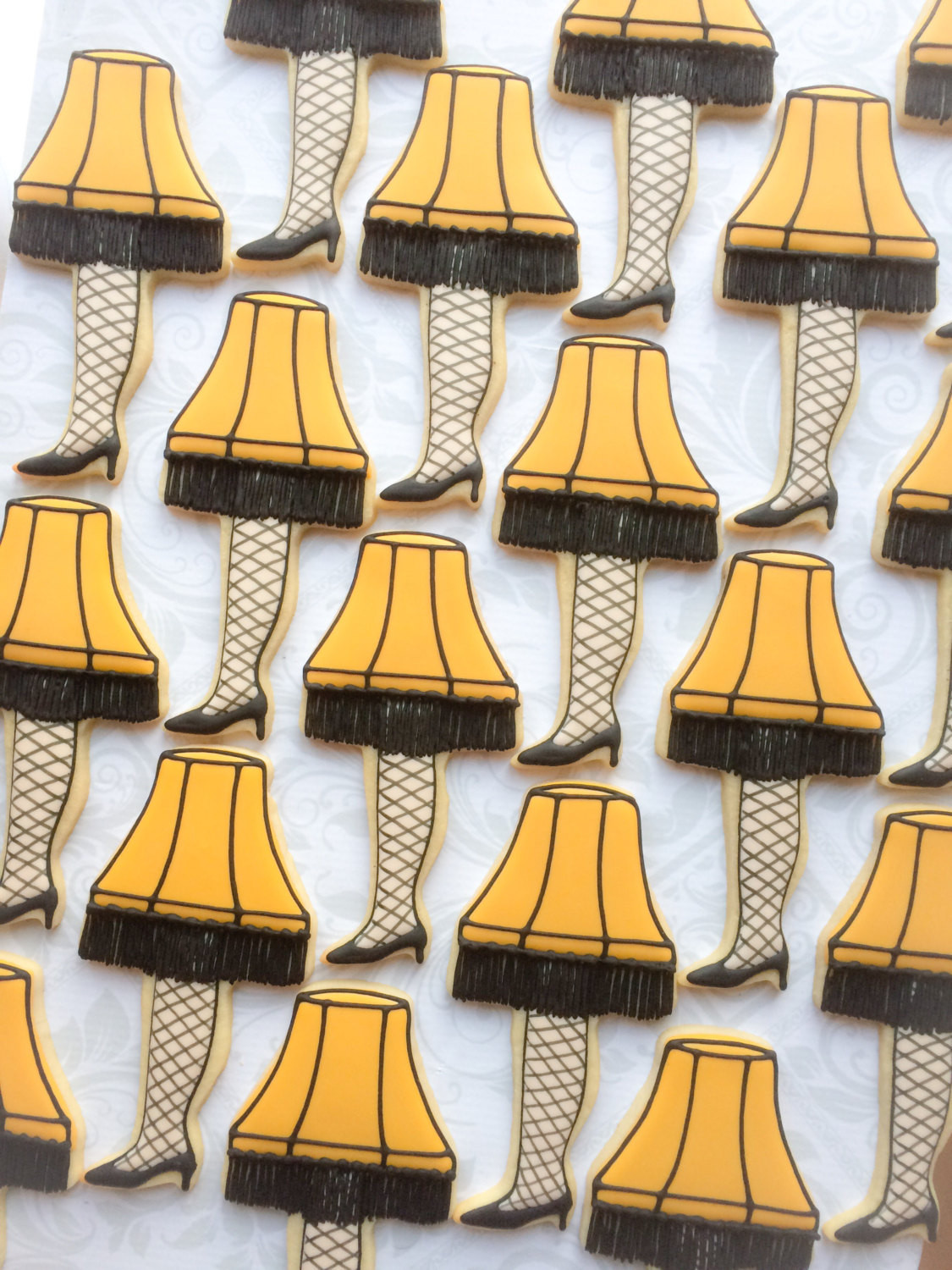 Christmas Story Lamp Cookies  A Christmas Story Leg Lamp Cookies e Dozen Decorated