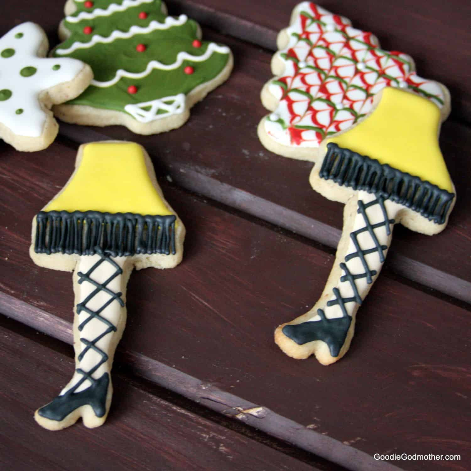Christmas Story Lamp Cookies  Video Christmas Leg Lamp Cookie Decorating Tutorial and