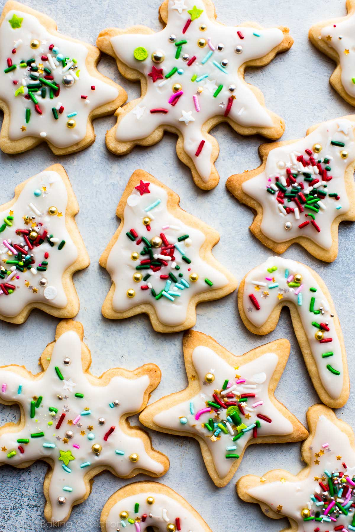 Christmas Sugar Cookie Icing Recipe  Holiday Cut Out Sugar Cookies with Easy Icing Sallys