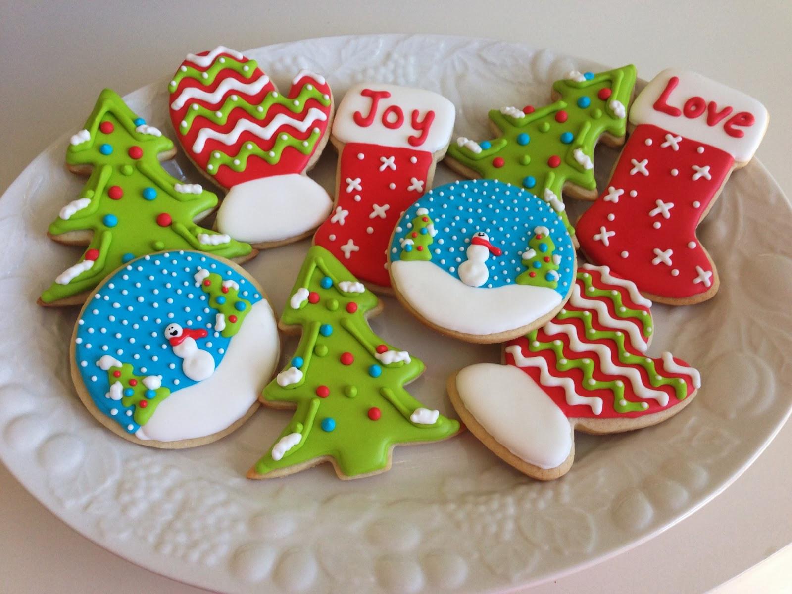 Christmas Sugar Cookies With Icing  monograms & cake Christmas Cut Out Sugar Cookies with
