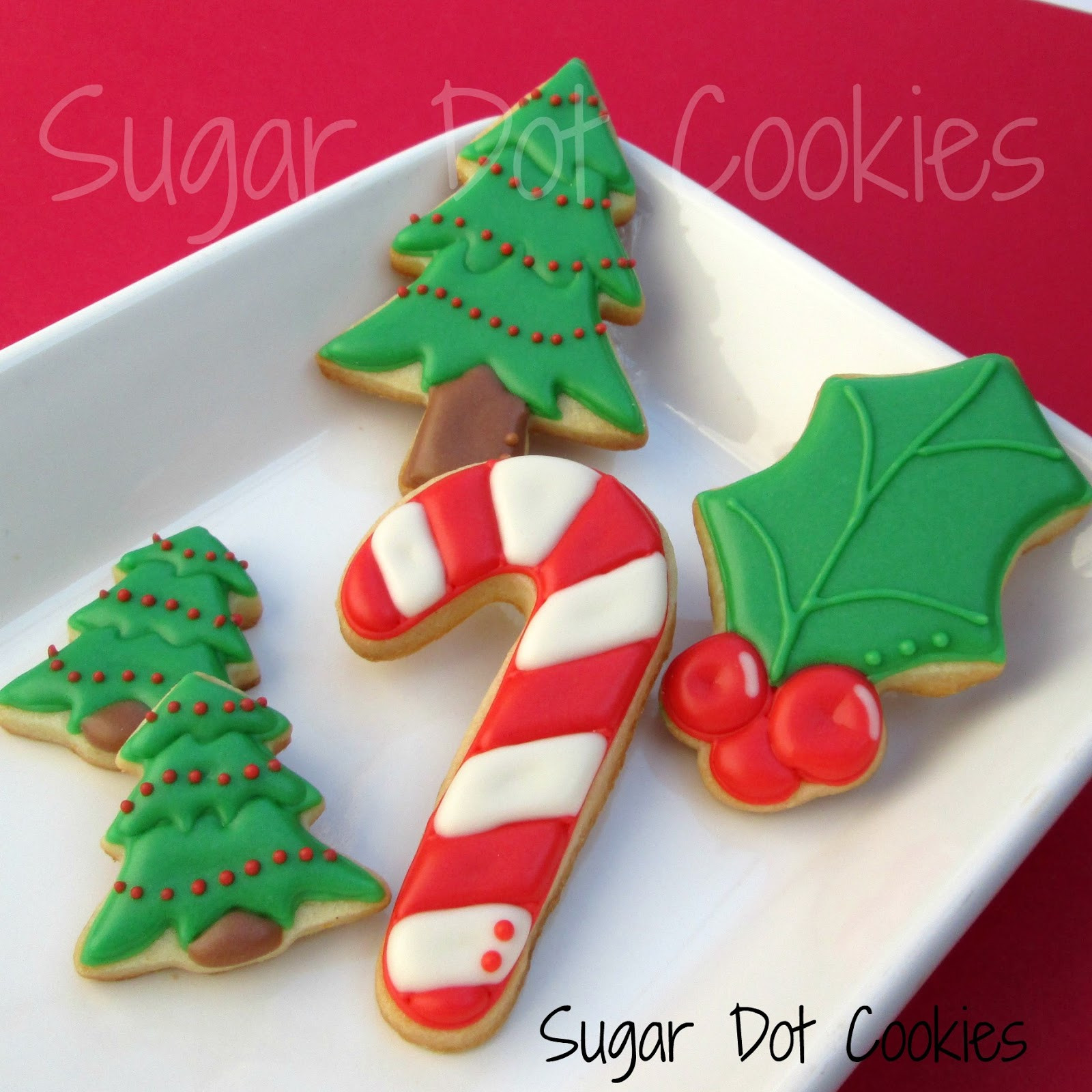 Christmas Sugar Cookies With Icing  Very simple Rudolph faces mini Christmas lights and mini
