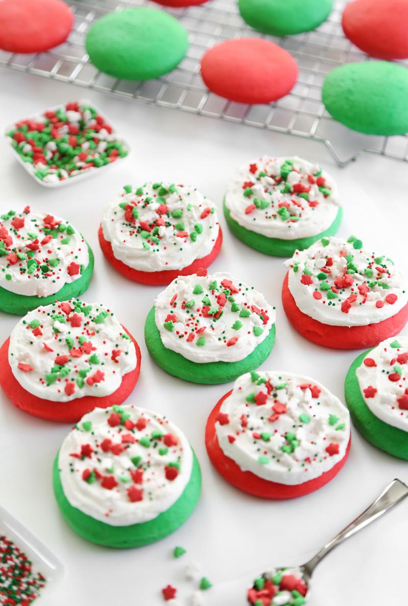 Christmas Sugar Cookies With Sprinkles  Lofthouse Style Soft Sugar Cookies