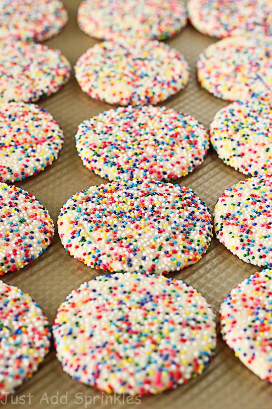 Christmas Sugar Cookies With Sprinkles  Sprinkled Sugar Cookies Just Add Sprinkles