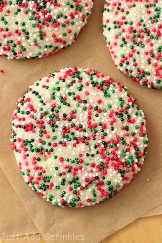 Christmas Sugar Cookies With Sprinkles  Sprinkled Sugar Cookies Christmas Edition Just Add