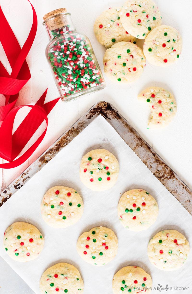 Christmas Sugar Cookies With Sprinkles  Sprinkle Sugar Cookies
