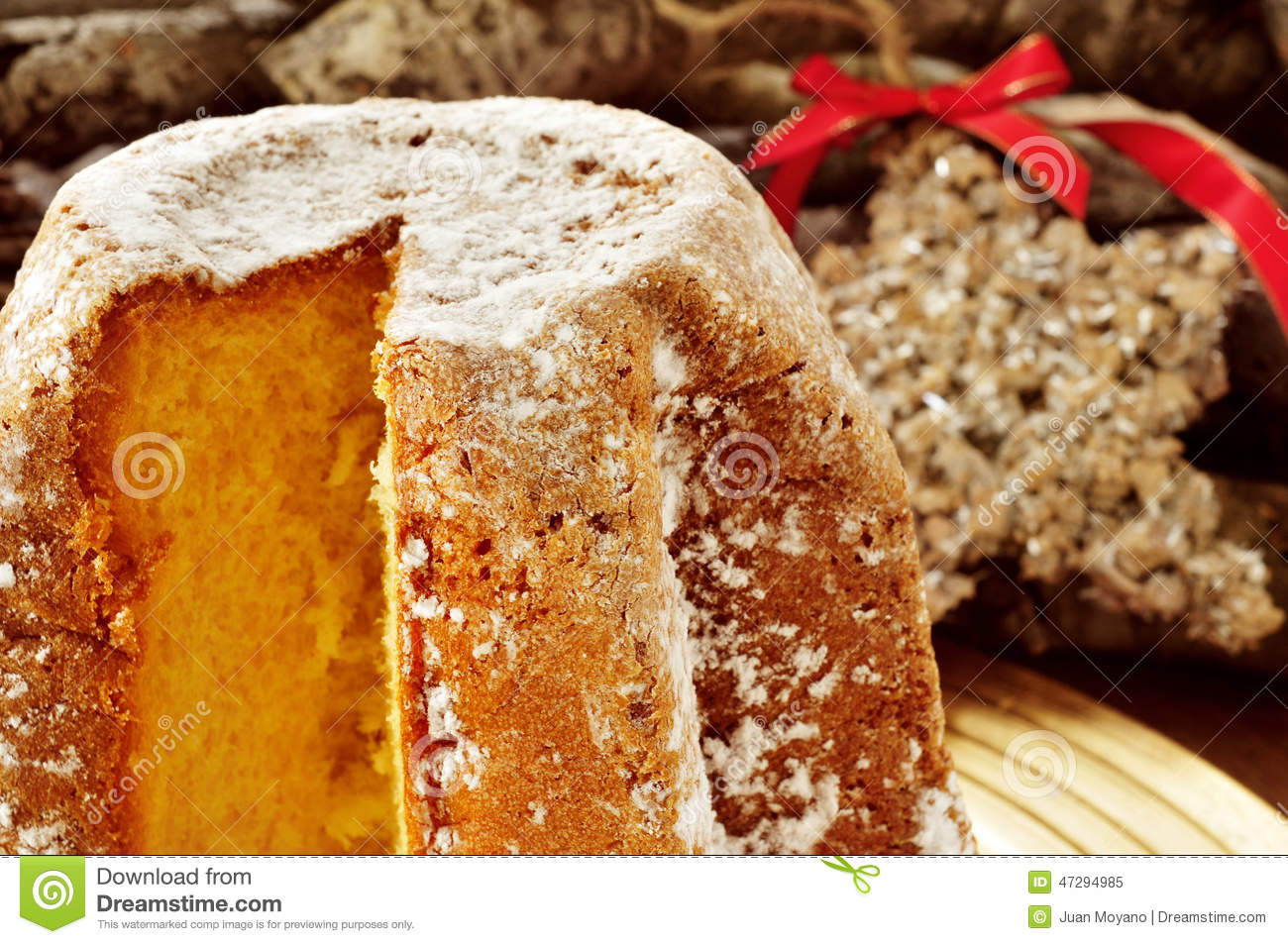 Christmas Sweet Bread  Pandoro Typical Italian Sweet Bread For Christmas Time