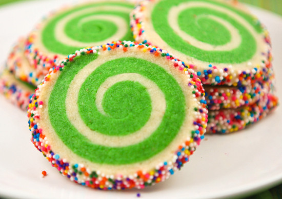 Christmas Swirl Sugar Cookies  Spiral Sugar Cookies — Pip and Ebby