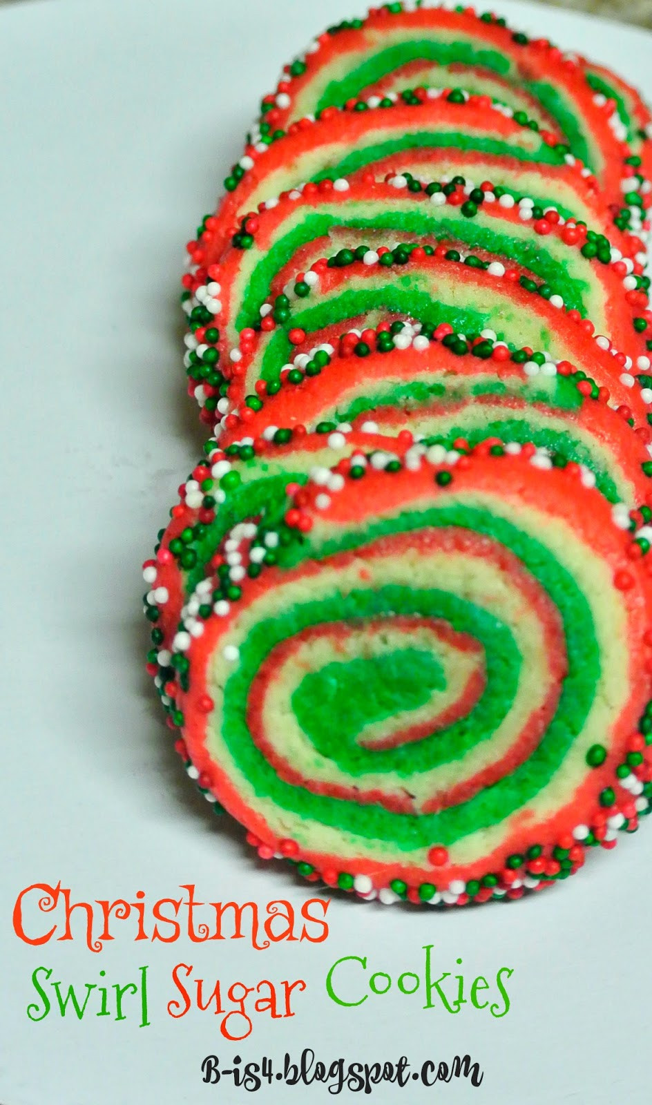 Christmas Swirl Sugar Cookies  B is 4 Christmas Swirl Sugar Cookies