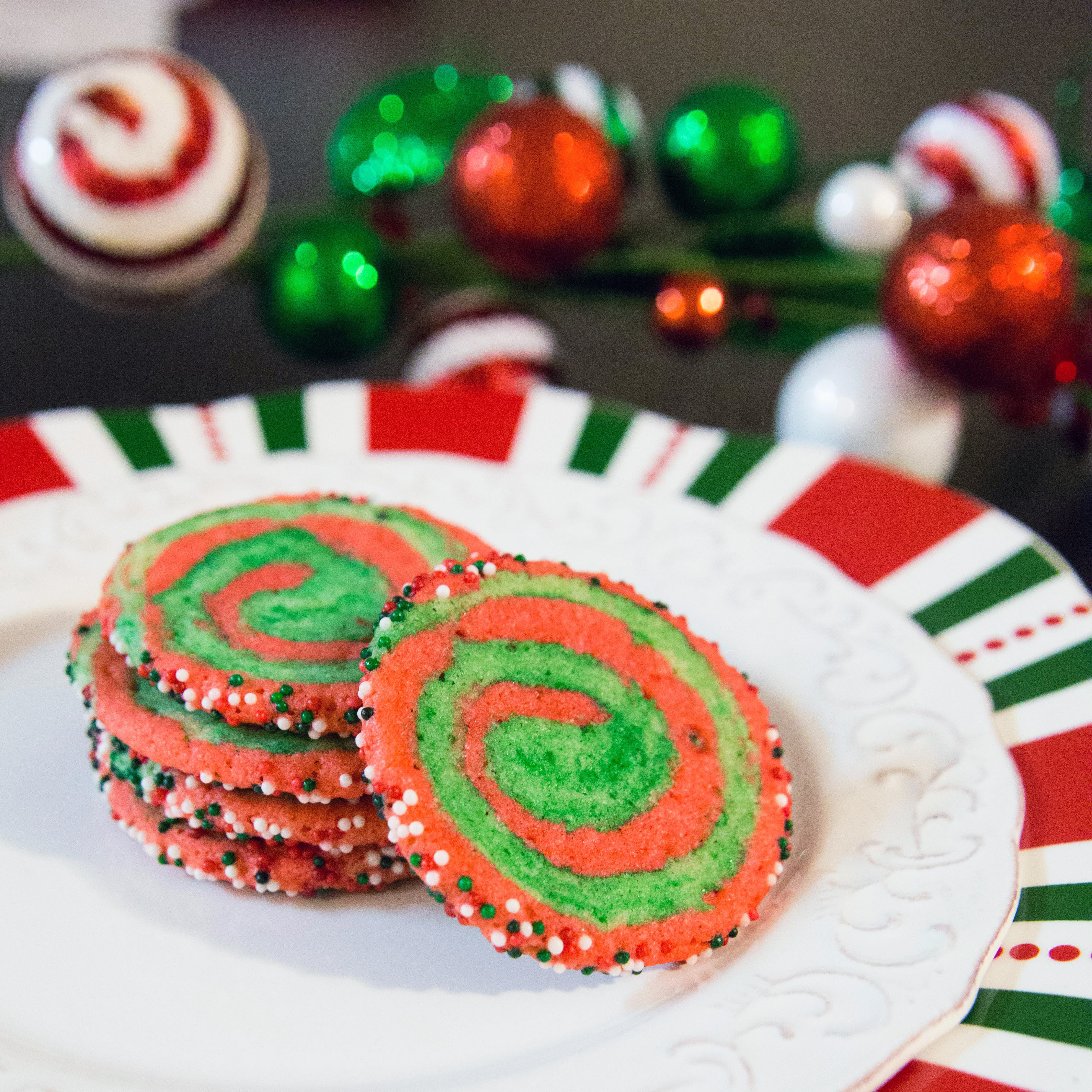 Christmas Swirl Sugar Cookies  Christmas Swirl Sugar Cookies