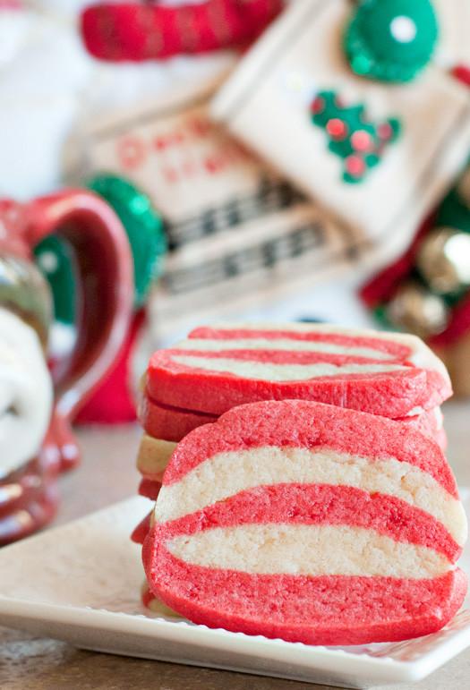Christmas Swirl Sugar Cookies  Peppermint Swirl Sugar Cookies