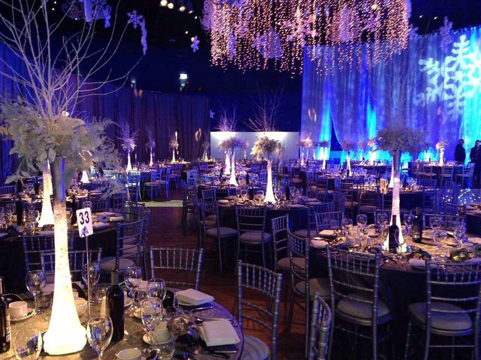 Christmas Themed Dinners  A Frozen themed gala dinner Christmas Party in the Mansion