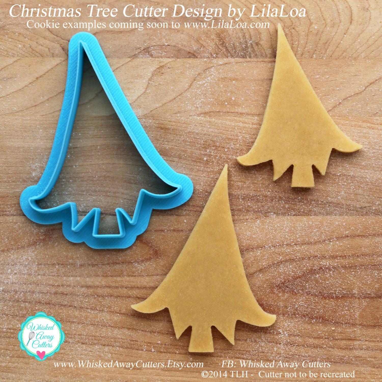 Christmas Tree Cookies Cutter  LilaLoa s Christmas Tree Cookie Cutter & Fondant Cutter