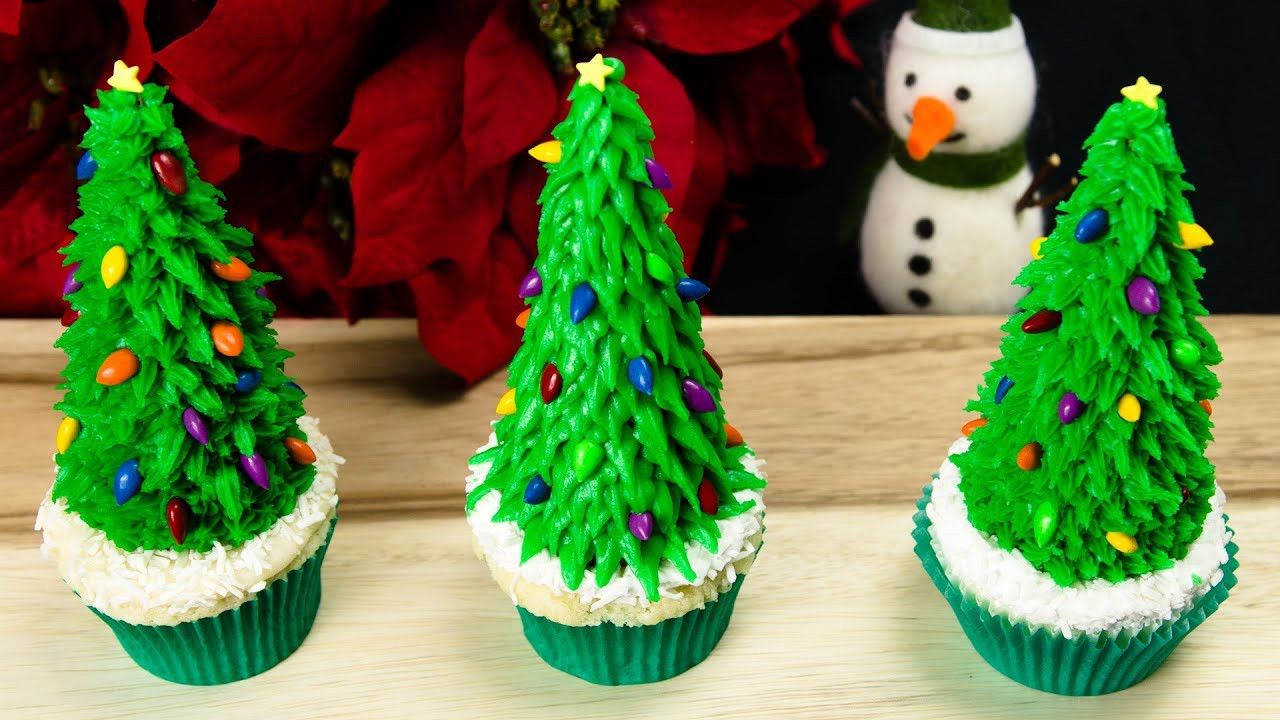 Christmas Tree Cupcakes  Christmas Tree Cupcakes Christmas Cupcakes from Cookies