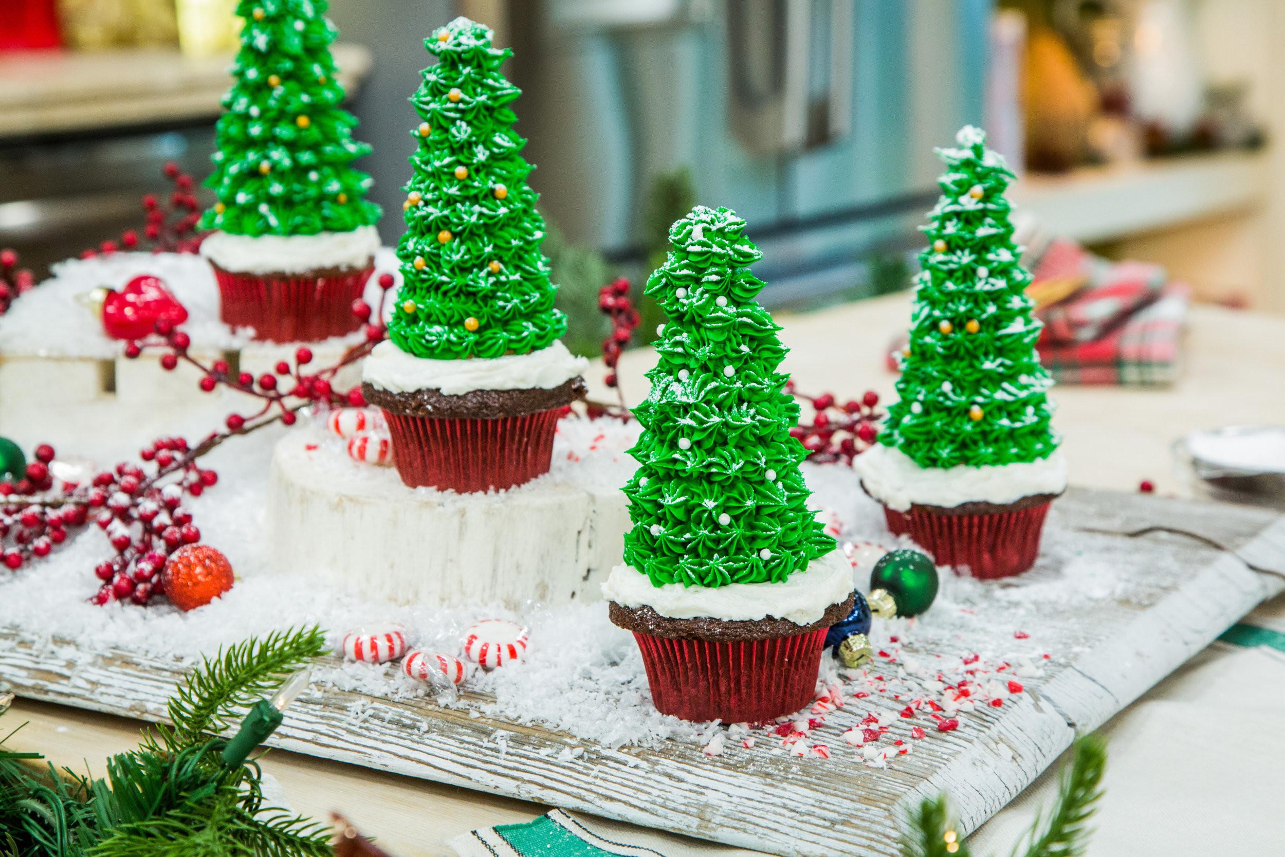 Christmas Tree Cupcakes  Christmas Tree Cupcakes Home & Family