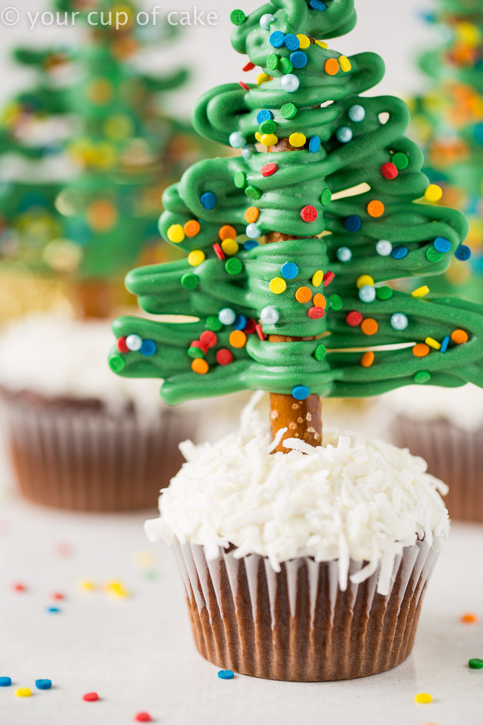 Christmas Tree Cupcakes  Easy Christmas Tree Cupcakes Your Cup of Cake