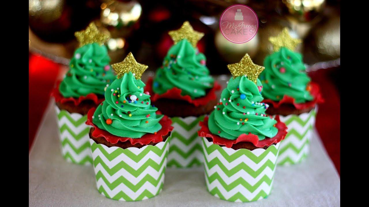Christmas Tree Cupcakes  How to Make EASY Christmas Tree Cupcakes