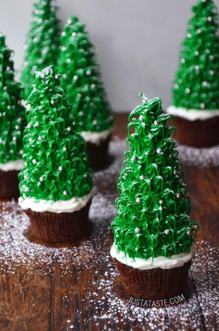 Christmas Tree Cupcakes  Just a Taste