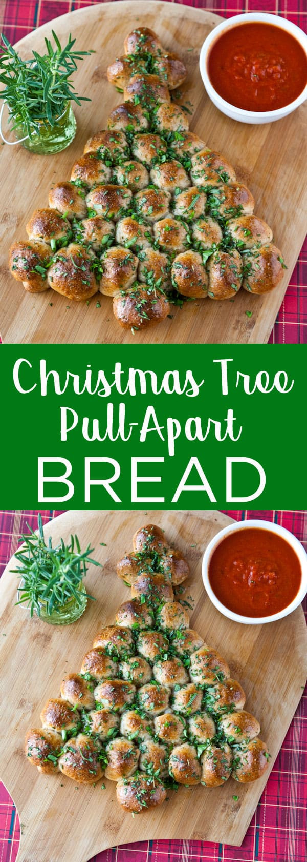 Christmas Tree Pull Apart Bread  Eclectic Recipes Christmas Tree Pull Apart