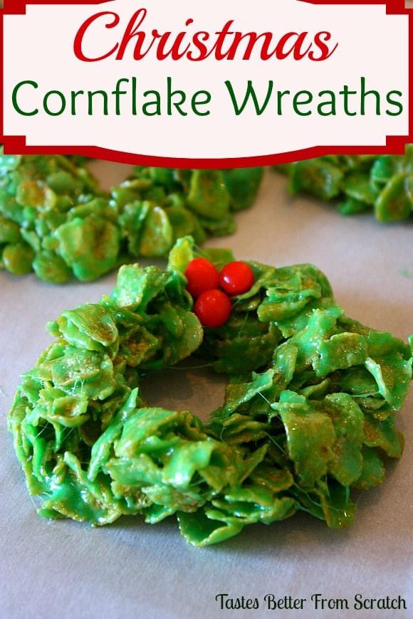 Christmas Wreath Cookies  Christmas Cornflake Wreaths