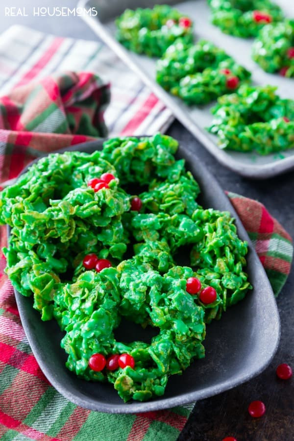 Christmas Wreath Cookies  Christmas Wreath Cookies with Video Easy Cookie Recipe
