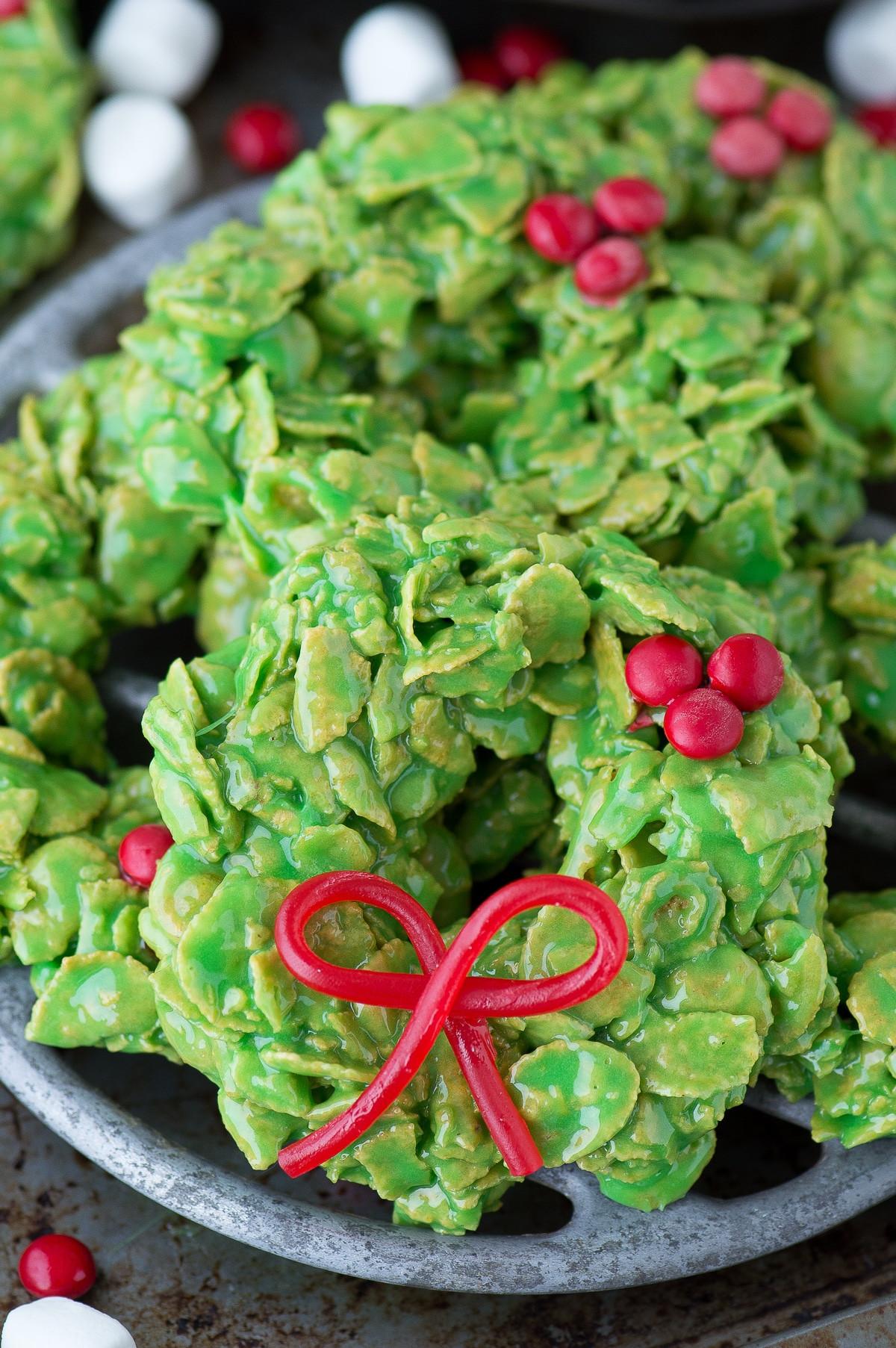 Christmas Wreath Cookies  Christmas Wreath Cookies