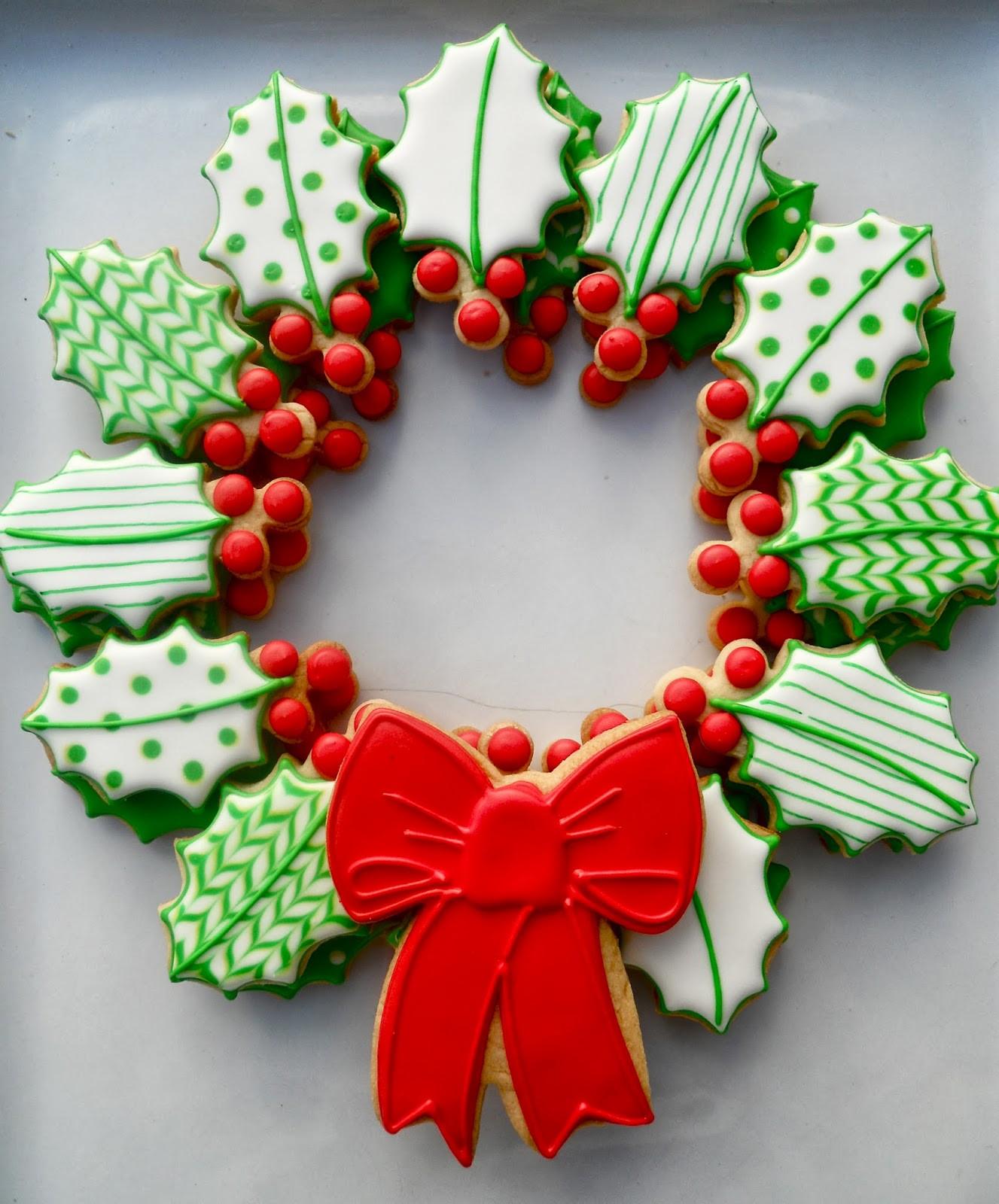Christmas Wreath Cookies  Oh Sugar Events Wreath In A Jar
