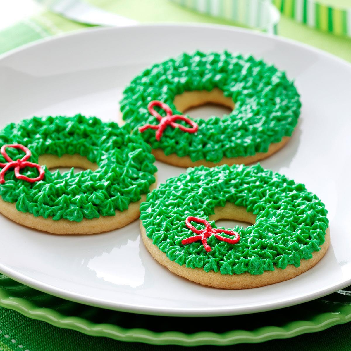 Christmas Wreath Cookies  Christmas Wreath Cookies Recipe