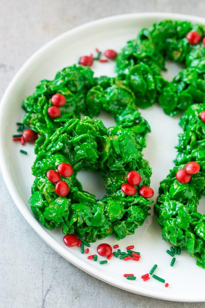 Christmas Wreath Cookies Recipe  Christmas Wreath Cookies Dinner at the Zoo