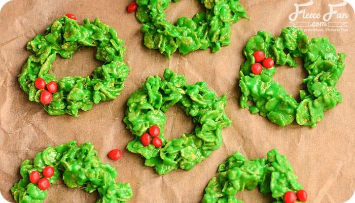 Christmas Wreath Cookies Recipe  No Bake Christmas Wreath Cookies Recipe