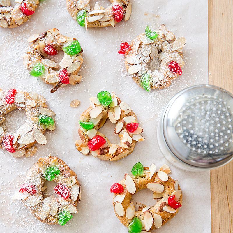 Christmas Wreath Cookies Recipe  Almond Spice Christmas Wreath Cookies