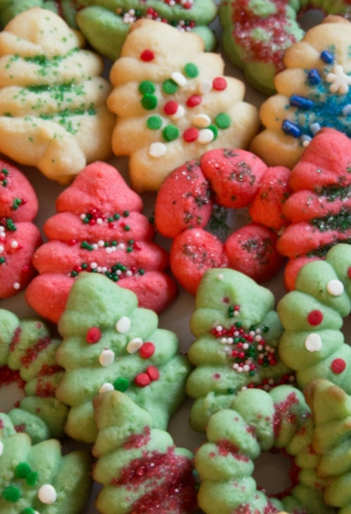 Classic Christmas Cookies  Classic Holiday Spritz Cookies Everyday Eileen