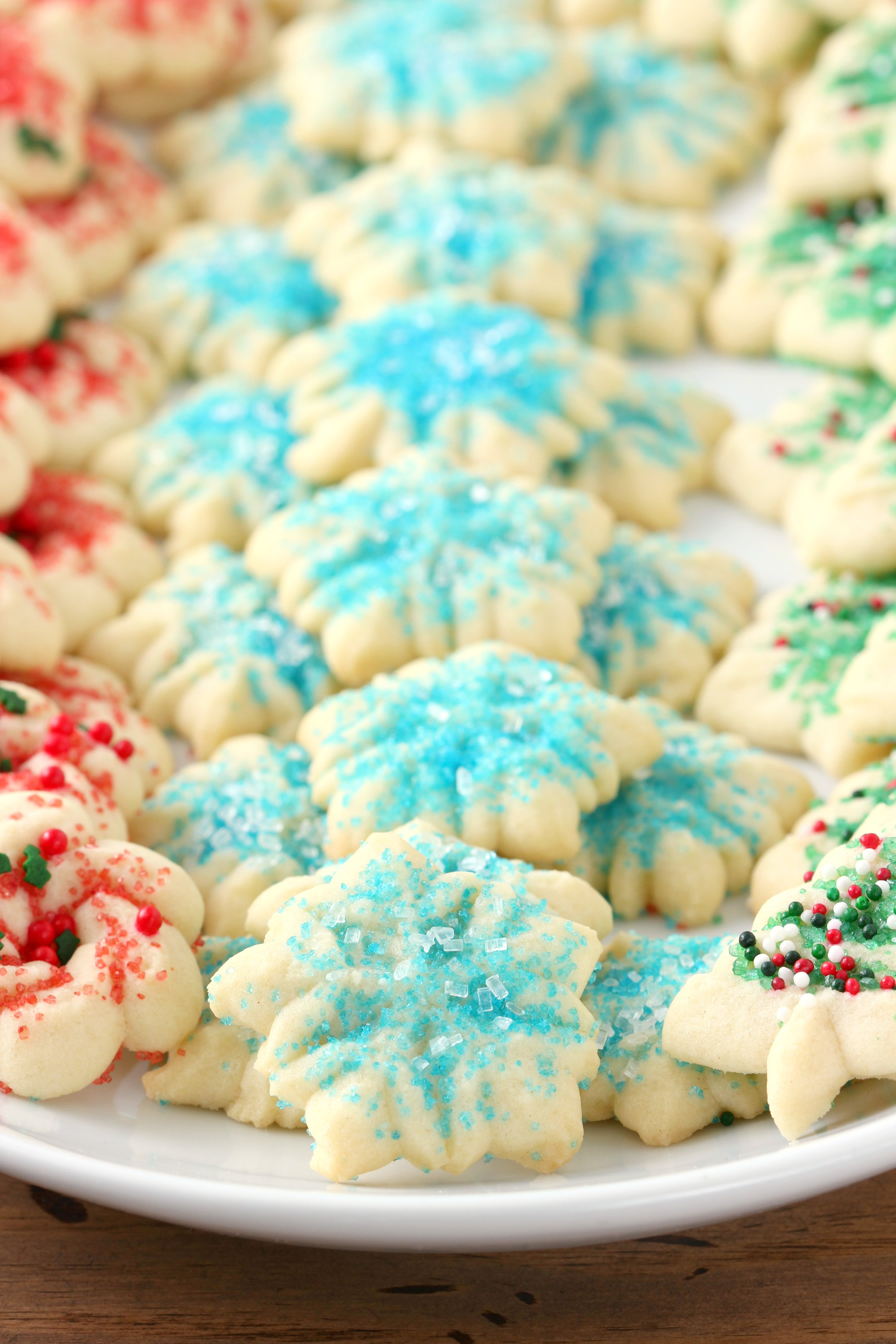 Classic Christmas Cookies  Classic Spritz Cookies A Kitchen Addiction