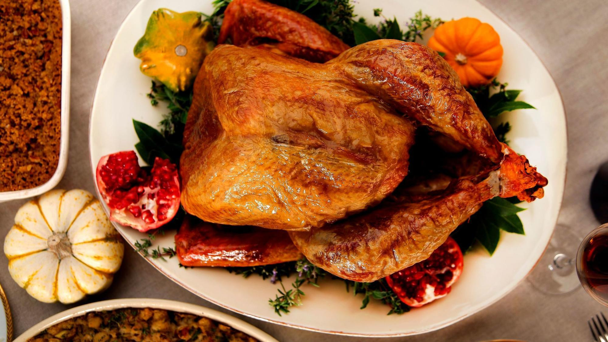 Cooked Thanksgiving Turkey  Turkey 101 How to cook a Thanksgiving turkey LA Times
