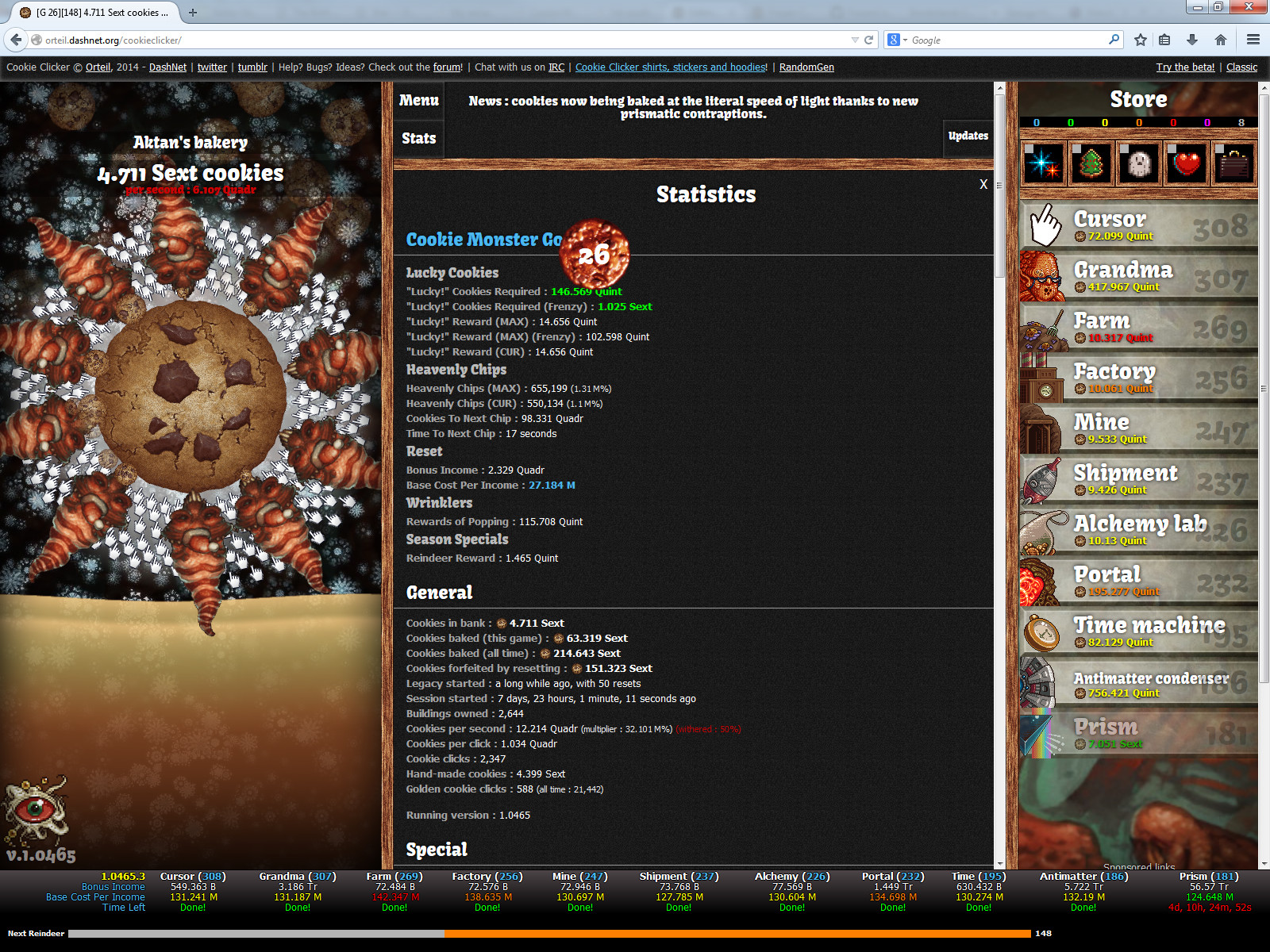 Cookie Clicker Halloween Cookies  Cookie Monster JavaScript Add on