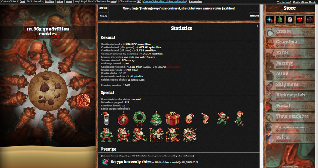 Cookie Clicker Halloween Cookies  Cookie er Statistics April 11th 2014 by