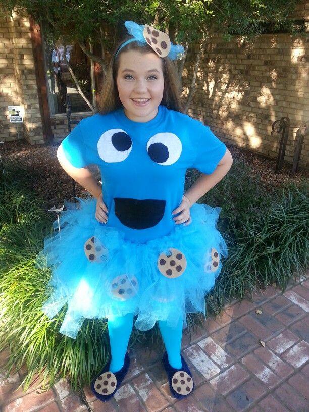 Cookies Halloween Costumes  Homemade cookie monster costume halloween