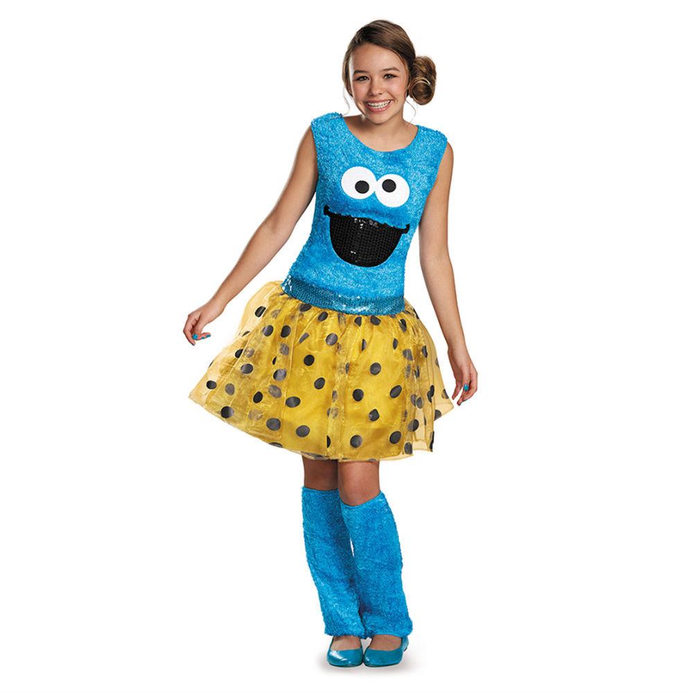 Cookies Halloween Costumes  Sesame Street Cookie Monster Deluxe Tween Child Costume