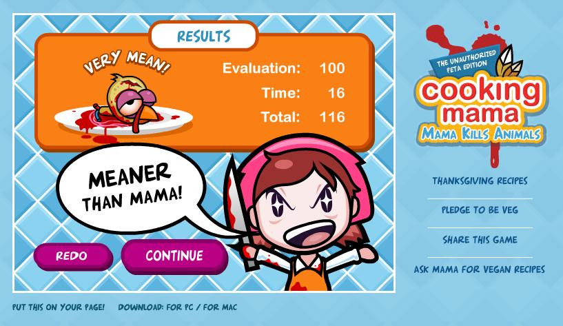 Cooking Mama Thanksgiving Turkey  WTF Flash Games