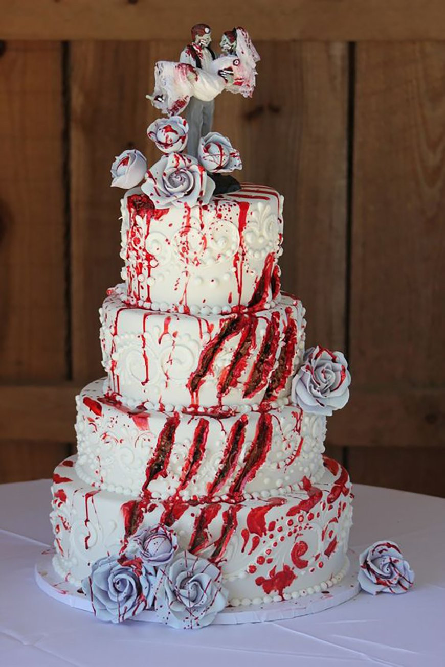 Cool Halloween Cakes  23 Halloween Wedding Cakes