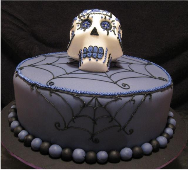 Cool Halloween Cakes  Very cool dark purple halloween cake photos JPG 1 ment