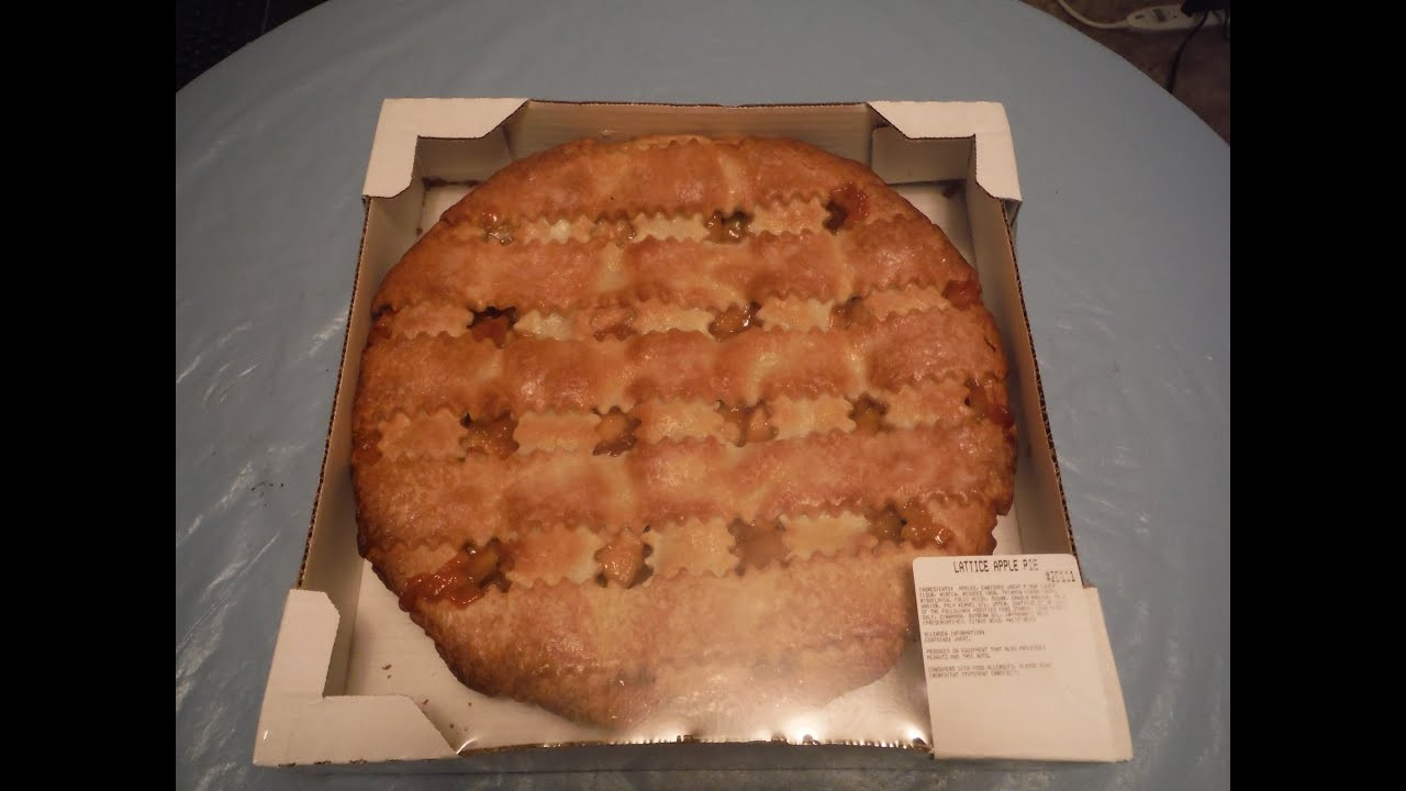 Costco Pies Thanksgiving  Entire container of Costco s Lattice Apple Pie Challenge