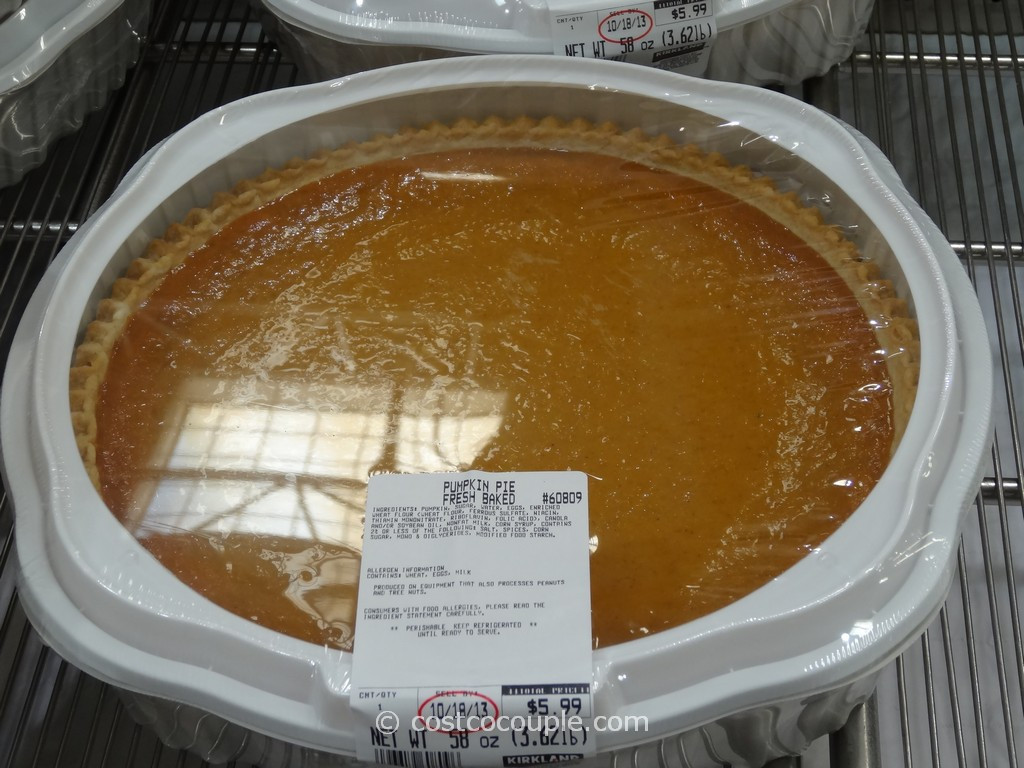 Costco Pies Thanksgiving  Pumpkin Pie
