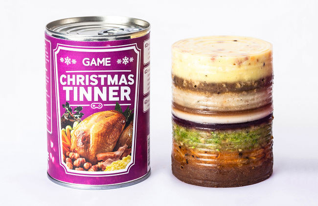Craigs Thanksgiving Dinner  Christmas dinner for gamers sold in a can