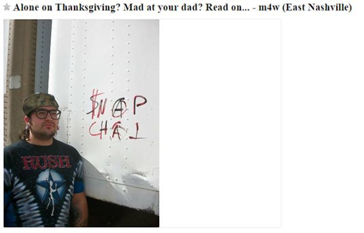 Craigslist Thanksgiving Dinner  Ex felon in Tenn s Thanksgiving date through