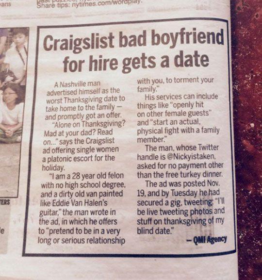 Craigslist Thanksgiving Dinner  1000 ideas about Bad Boyfriend on Pinterest